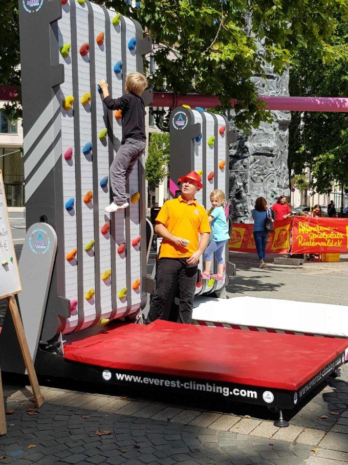 mobile Kletterwand Verleih für Events